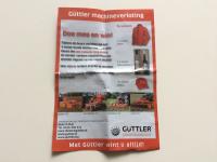 Winnares blij met gewonnen Güttler machine.